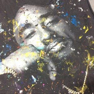Shirts - Tupac 2pac vintage death row paint shirt